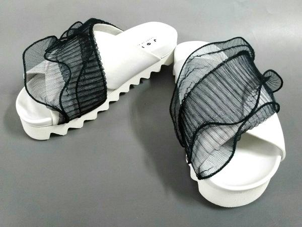 ジョシュア サンダース サンダル 36 白×黒