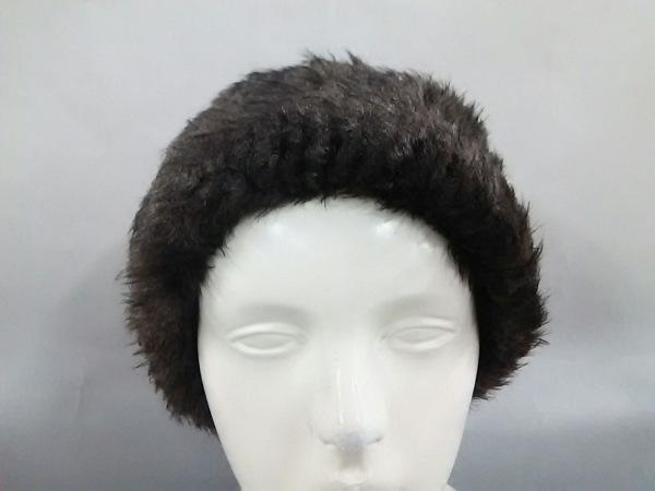 ミサハラダ 帽子美品  ダークブラウン