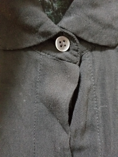JAMES PERSE(ジェームスパース) 長袖シャツブラウス サイズ0 XS レディース美品  黒