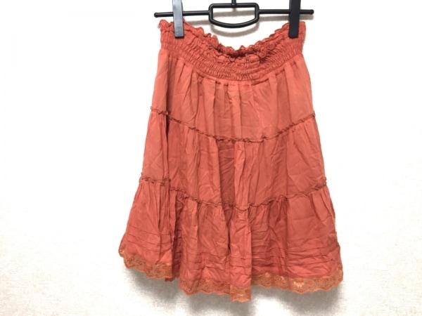 【中古】 ロペピクニック RopePicnic スカート レディース オレンジ