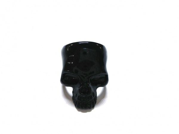 ランダム リング 金属素材 黒 スカル
