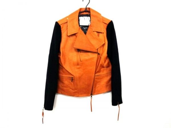 プランピーナッツ ライダースジャケット サイズ38 M レディース ブラウン×黒