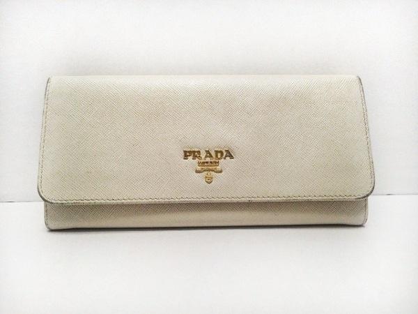 PRADA(プラダ) 長財布 - アイボリー レザー