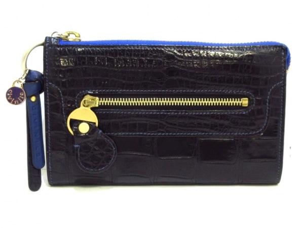チビナイル 長財布美品  黒 クロコダイル