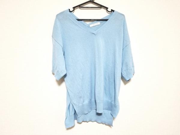 ローリーズファーム 半袖カットソー サイズM レディース美品  ライトブルー