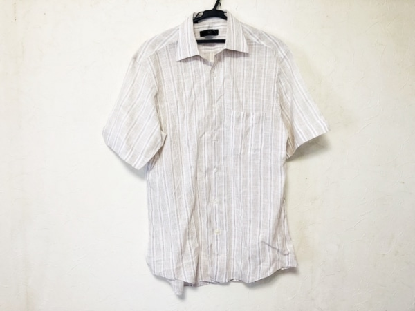 ゼニア 半袖シャツ メンズ ストライプ