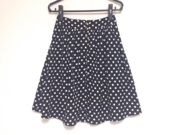 ラコンフィー スカート レディース 黒×白