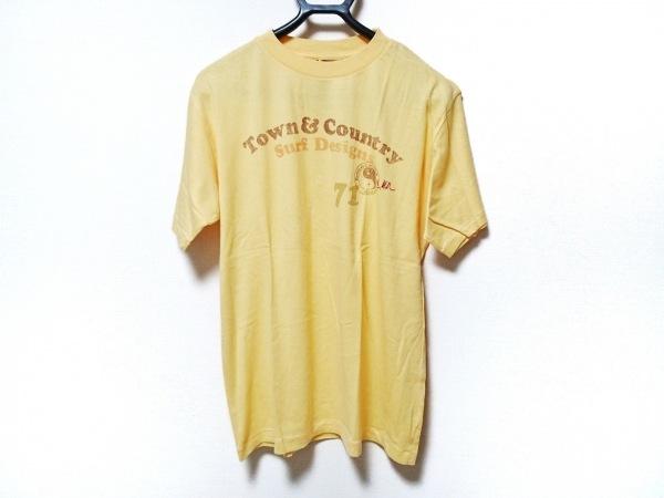 【中古】 タウン&カントリー Town & Country 半袖Tシャツ サイズL メンズ 美品 イエロー