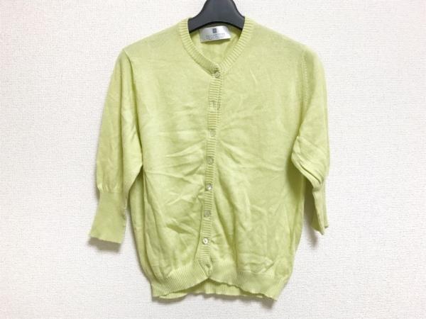 バランタイン カーディガン サイズ3 L レディース美品  ライトグリーン 半袖