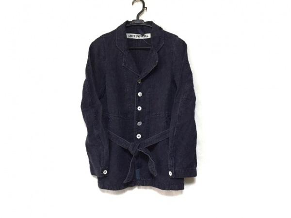 ARTE POVERA(アルテポーヴェラ) ジャケット レディース美品  ネイビー ロング丈 綿