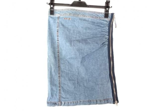 ダナキャラン スカート サイズ0 XS ブルー