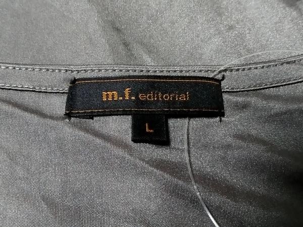 m.f.editorial(エムエフエディトリアル) 半袖カットソー サイズL レディース グレー