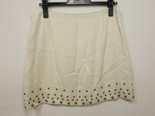 フィリー オー リンクス ミニスカート サイズ38 M レディース美品  ベージュ スタッズ