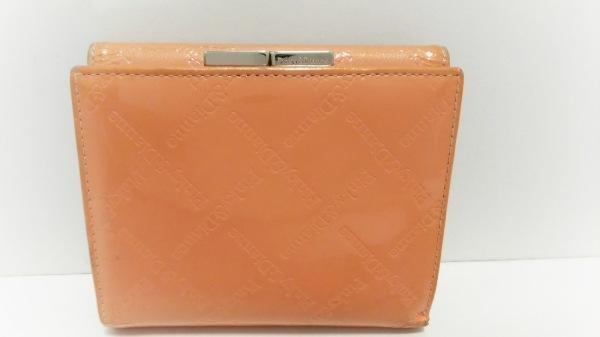 Pinky&Dianne(ピンキー&ダイアン) 3つ折り財布 オレンジ 型押し加工 2