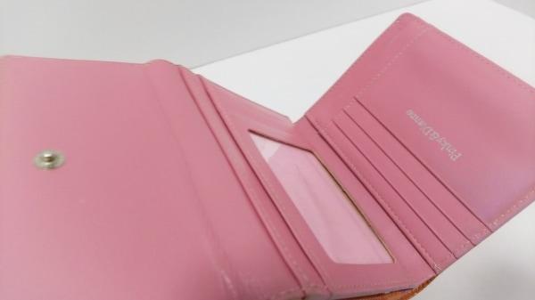 Pinky&Dianne(ピンキー&ダイアン) 3つ折り財布 オレンジ 型押し加工 3