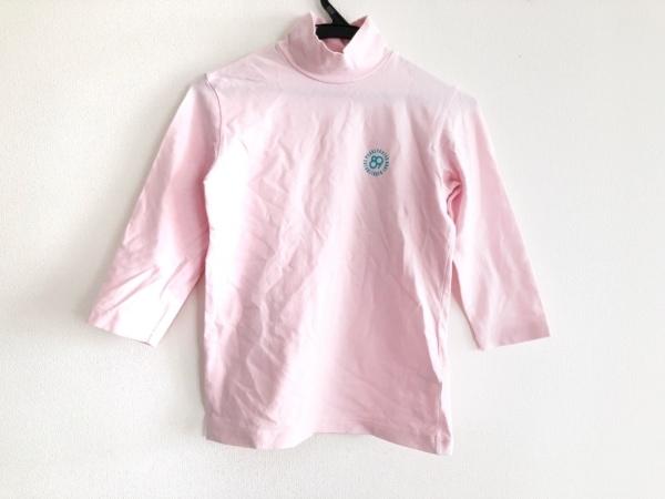 パーリーゲイツ 七分袖カットソー サイズ0 XS レディース ピンク 1