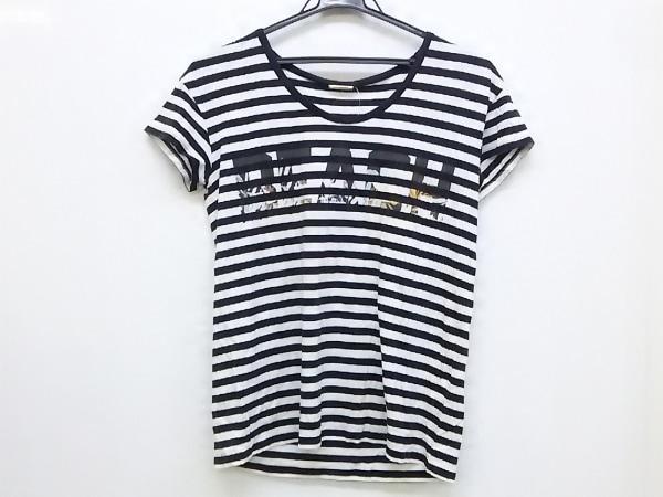 レベッカミンコフ 半袖Tシャツ サイズF レディース 黒×白×マルチ ボーダー