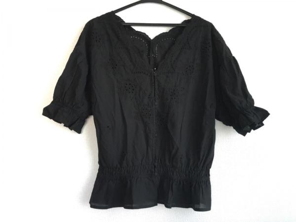 LOWRYS FARM(ローリーズファーム) 半袖シャツブラウス サイズL レディース美品  黒