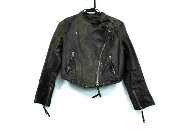 Flammeum(フラミューム) ライダースジャケット サイズ38 M レディース美品  ブラウン