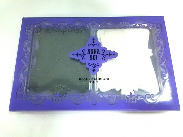 ANNA SUI(アナスイ) ミラー美品  黒×白 2個セット プラスチック×ガラス