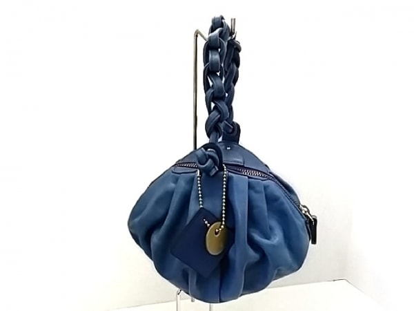 イロセ ハンドバッグ ブルー ミニサイズ