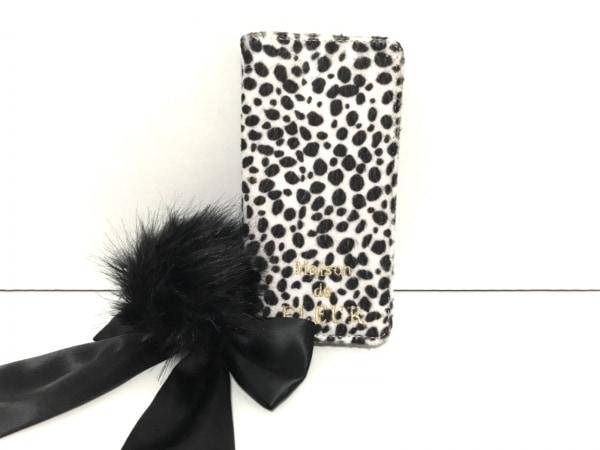 メゾンドフルール 携帯電話ケース 白×黒