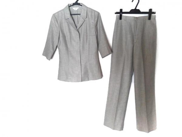 【中古】 ホワイトジョーラ レディースパンツスーツ サイズ11 M レディース ベージュ 3点セット
