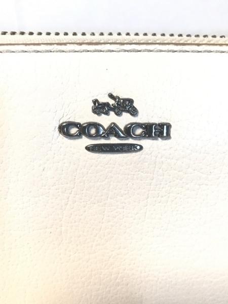 COACH(コーチ) 長財布 F52645 アイボリー レザー 5