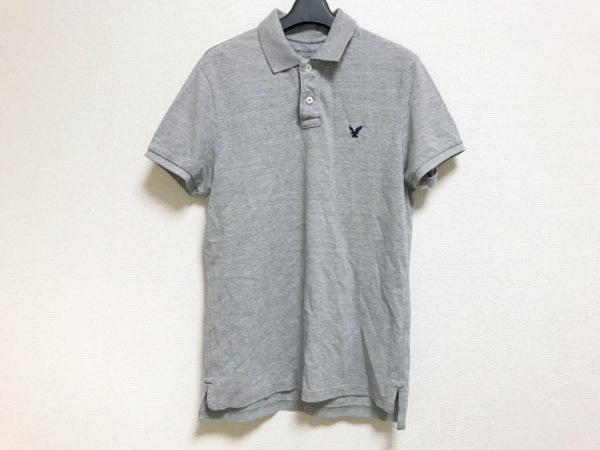 【中古】 アメリカンイーグル American Eagle 半袖ポロシャツ メンズ グレー