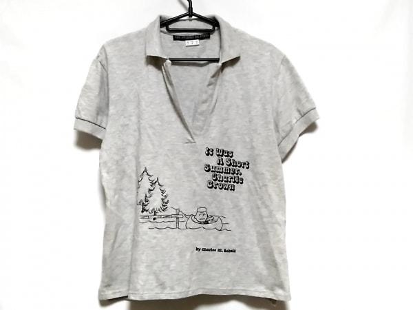 レプレリードパリ 半袖ポロシャツ サイズ6 M レディース美品  ライトグレー snoopy