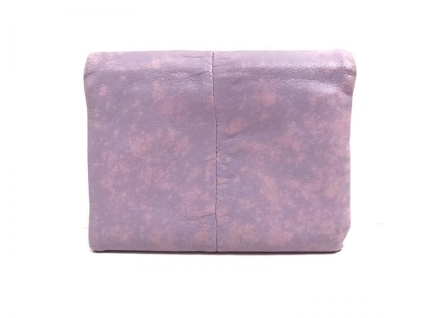 ジルスチュアート 3つ折り財布 パープル×ピンク がま口 レザー 2