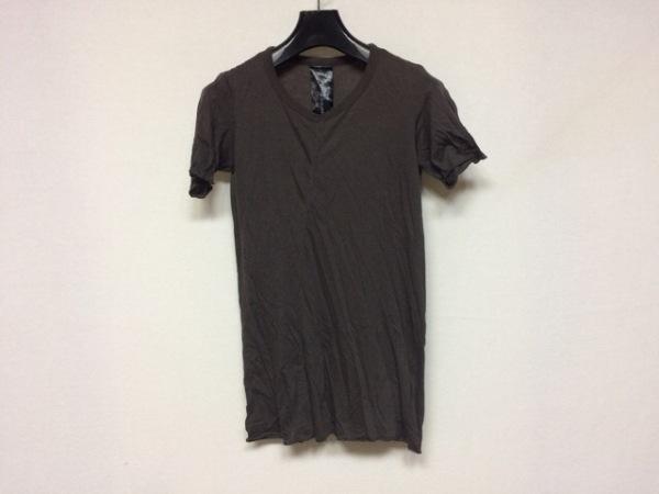 S'exprimer(セクスプリメ) 半袖Tシャツ サイズ5 XL メンズ美品  ダークブラウン