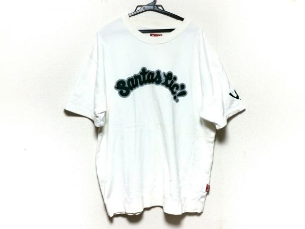 サンタスティック 半袖カットソー サイズXL メンズ 白×ダークグリーン×ライトグレー