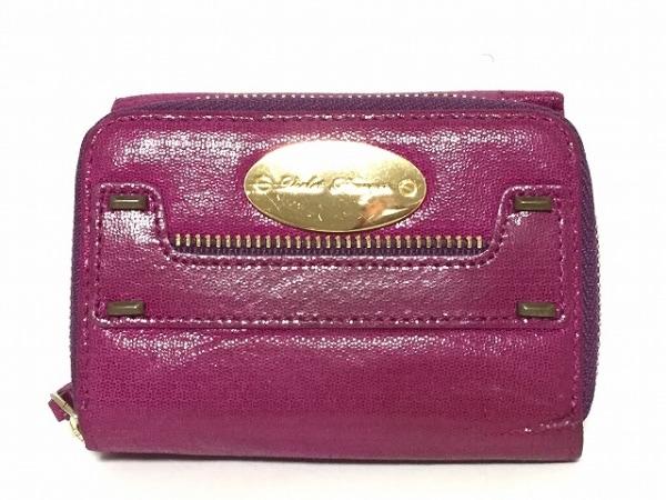 Violet Hanger(バイオレットハンガー) 3つ折り財布 パープル コンパクトサイズ レザー