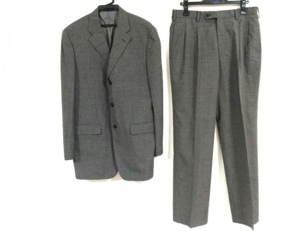 コムサデモードメン シングルスーツ サイズ4 XL メンズ グレー 肩パッド