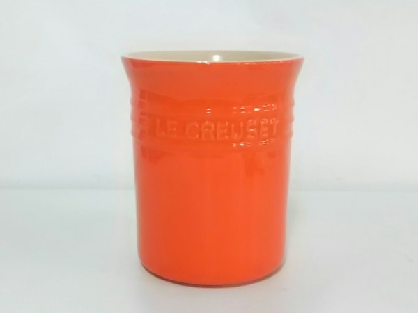 LE CREUSET(ルクルーゼ) 小物美品  オレンジ フードコンテナ 陶器