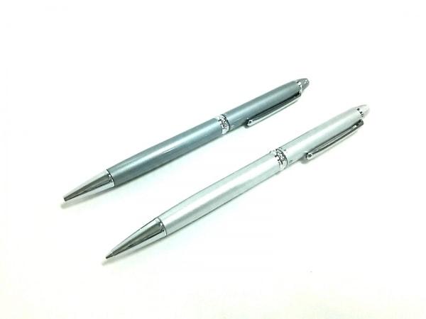 プラチナ ペン美品  グレー×シルバー ボールペン(インクあり/黒)&シャーペン