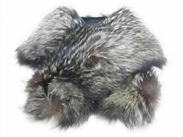 Moon Bat Fur(ムーンバットファー) マフラー新品同様  ダークブラウン ファー