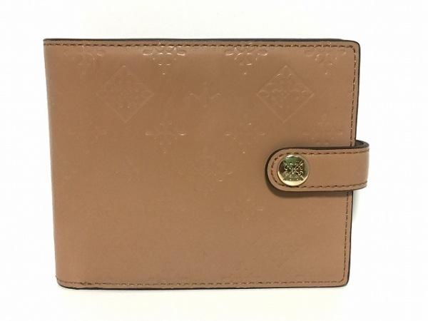 russet(ラシット) 2つ折り財布 - ライトブラウン 型押し加工 レザー