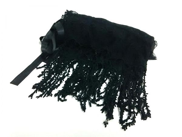 Barbie(バービー) ストール(ショール)美品  ブラック 化学繊維