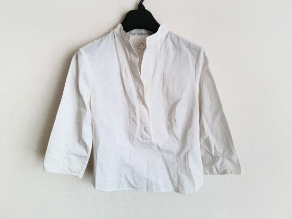 エーエフヴァンデヴォルスト 七分袖ポロシャツ サイズ34 S レディース 白