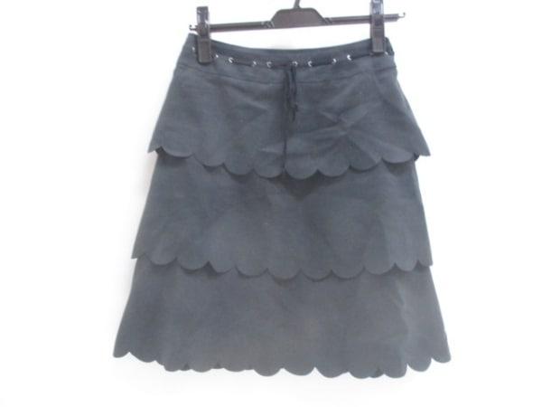 【中古】 ルージュディアマン RD ROUGE DIAMANT スカート サイズ36 S レディース ブラック