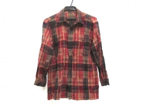 -(--) 長袖シャツ サイズ46 XL メンズ ブラウン×マルチ 1