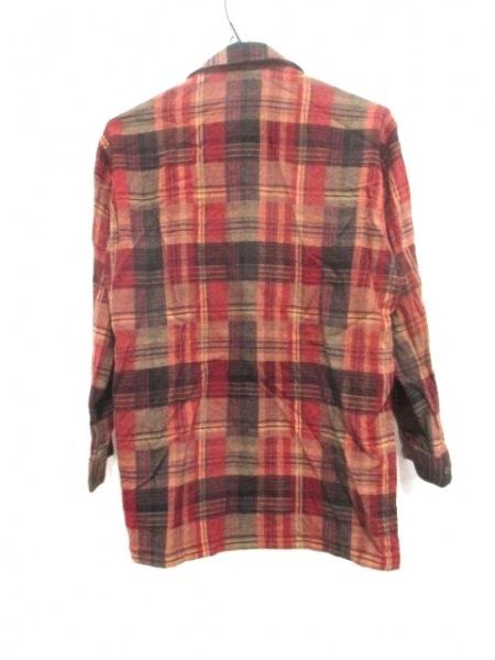 -(--) 長袖シャツ サイズ46 XL メンズ ブラウン×マルチ 2