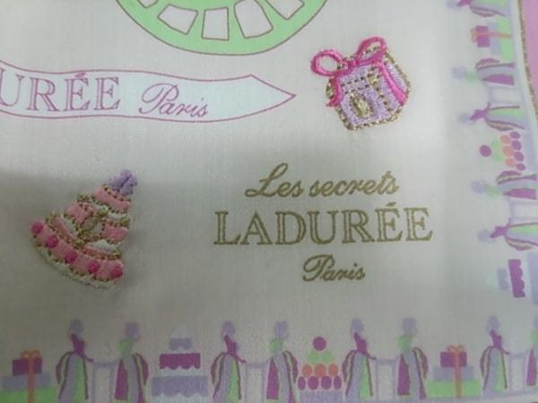 LADUREE(ラデュレ) ハンカチ ピンク×マルチ 3