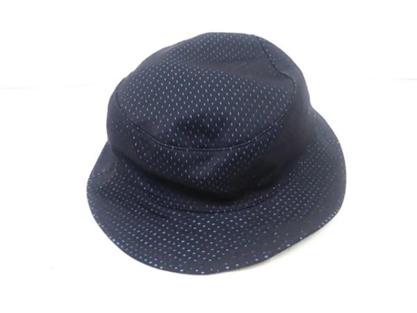 -(--) 帽子 黒×ライトブルー 3