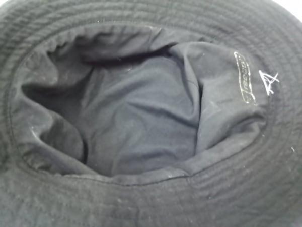 -(--) 帽子 黒×ライトブルー 4