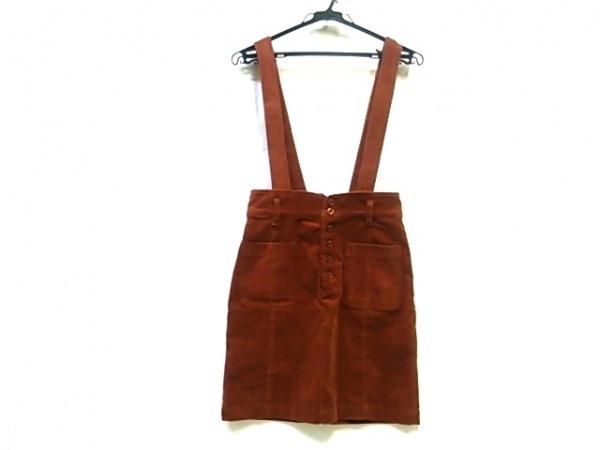 【中古】 ミスティウーマン mysty woman スカート サイズM レディース ブラウン