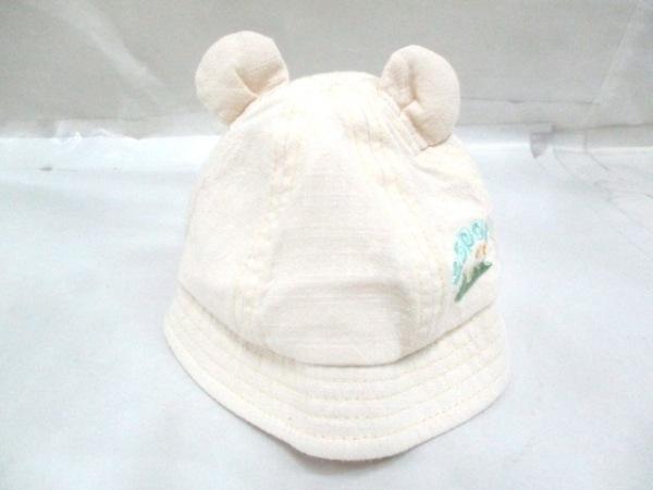-(--) 帽子 44cm ライトベージュ 1
