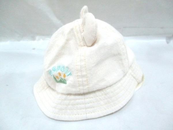 -(--) 帽子 44cm ライトベージュ 2